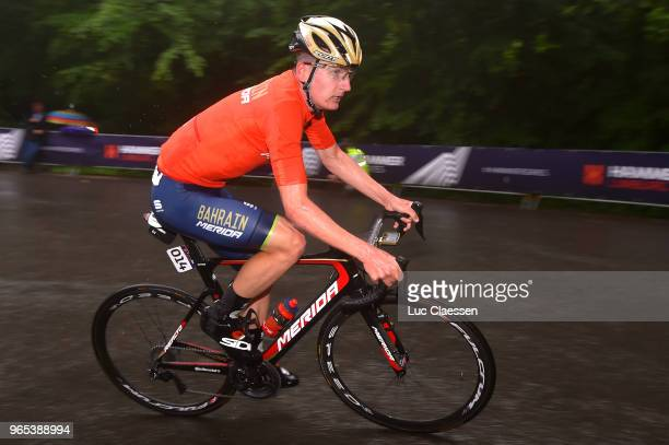 Mark Padun of Ukraine and Bahrain Merida Pro Cycling Team / during the 3rd Velon Hammer Series 2018 Stage 1 a 77km race from Vaals to Drielandenpunt...