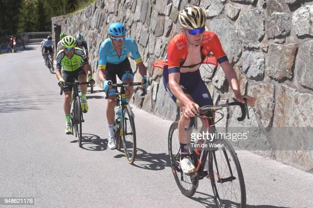 Mark Padun of Ukraine and Team Bahrain Merida / Davide Villella of Italy and Astana Pro Team / Mikel Bizkarra of Spain / and Team Euskadi Murias /...