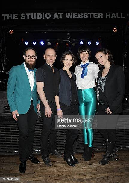 Mark Palmer Blake Morgan Janita Maria Ervi Anthea White and Melissa Giges attend the Janita Record Release Event at Webster Hall on March 26 2015 in...