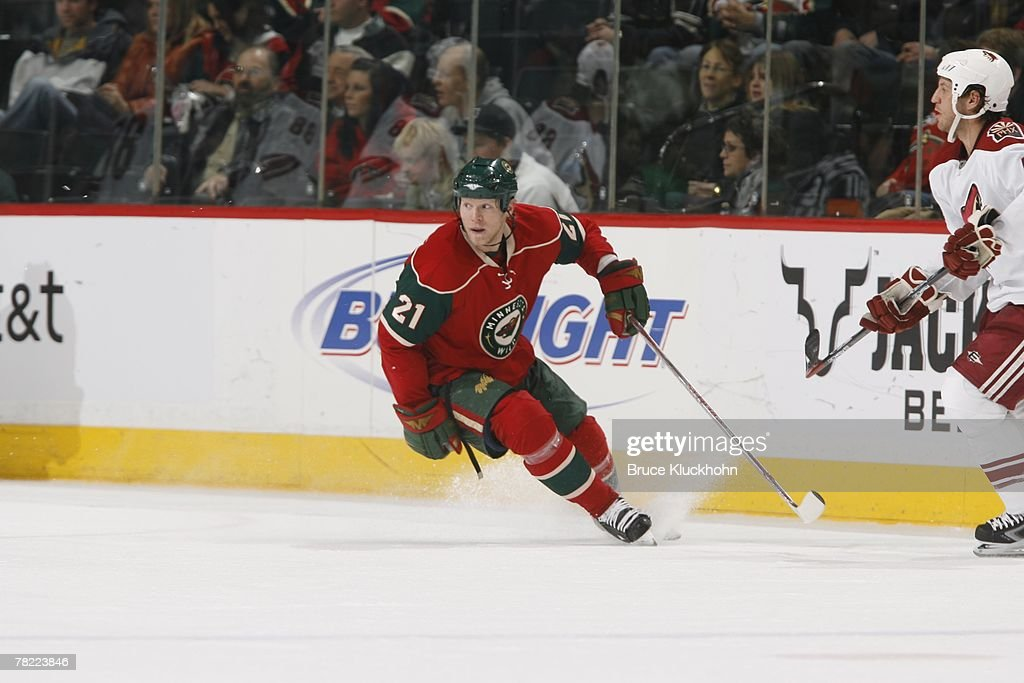 Mark Parrish Of The Minnesota Wild Skates Against The Phoenix