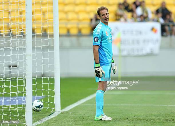 Mark Paston of the Phoenix shows his disappointment after conceding a goal during the round 13 ALeague match between the Wellington Phoenix and the...