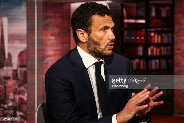Mark Patricof senior advisor for Crestview Partners LP and founder of Patricof Co speaks during a Bloomberg Television interview in New York US on...