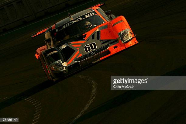 Mark Patterson and Oswaldo Negri Jr drive the Michael Shank Lexus Riley during the GrandAm Rolex Sports Car Series race on March 3 2007 at the...