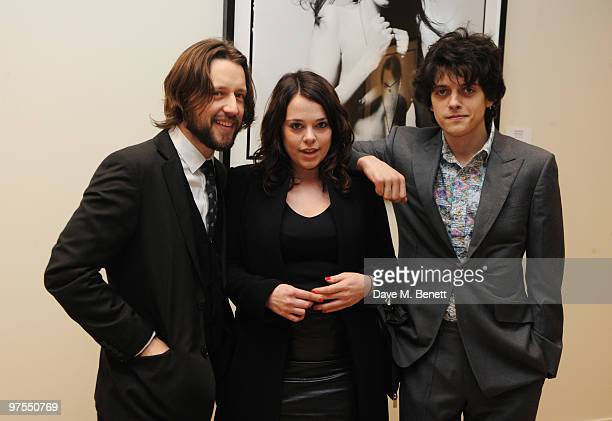 Mark Patterton Danielle Edwards and Fenton Bailey attend the launch of the new selling exhibition 'Pure Sixties Pure Bailey' showcasing photographs...