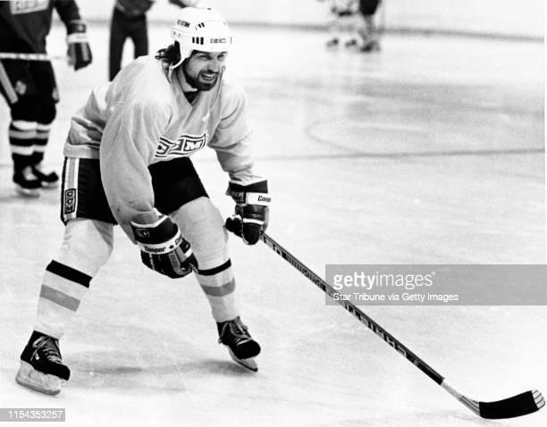 Mark Pavelich hockey Star Tribune staff photo 3/10/1987 by Donald Black