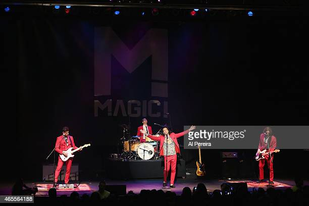 Mark Pellizer Alex Tanas Nasri and Ben Spivak of Magic performs at The Paramount Theater on March 7 2015 in Huntington City