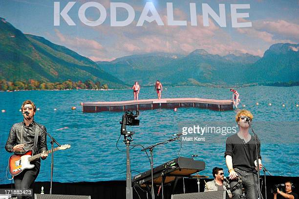 Mark Pendergast and Steven Garrigan of Kodaline perform on the main stage at Hard Rock Calling Day 1 which is the inaugral concert at at the Queen...