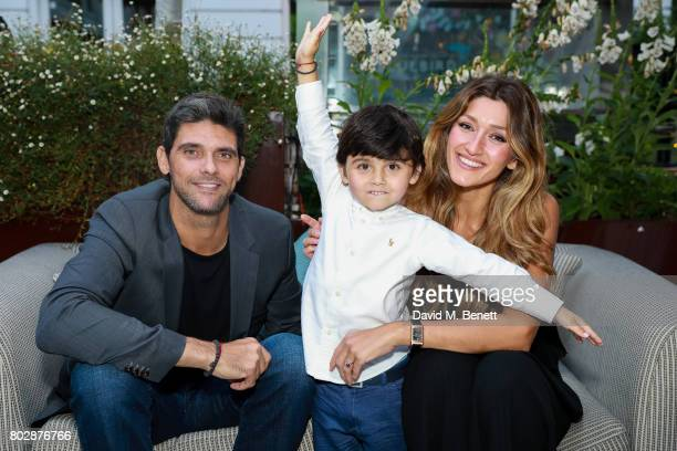Mark Philippoussis and Silvana Lovin attends the Taylor Morris Eyewear x Aspall Tennis Classic Player's Party at Bluebird Chelsea on June 28 2017 in...