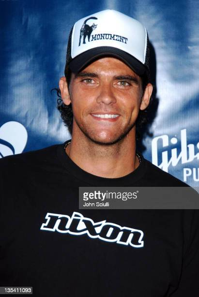 Mark Philippoussis during Gibson/Baldwin Presents 'Night at the Net' at the 78th Annual MercedesBenz Cup Benefiting MUSICARES Foundation Arrivals at...