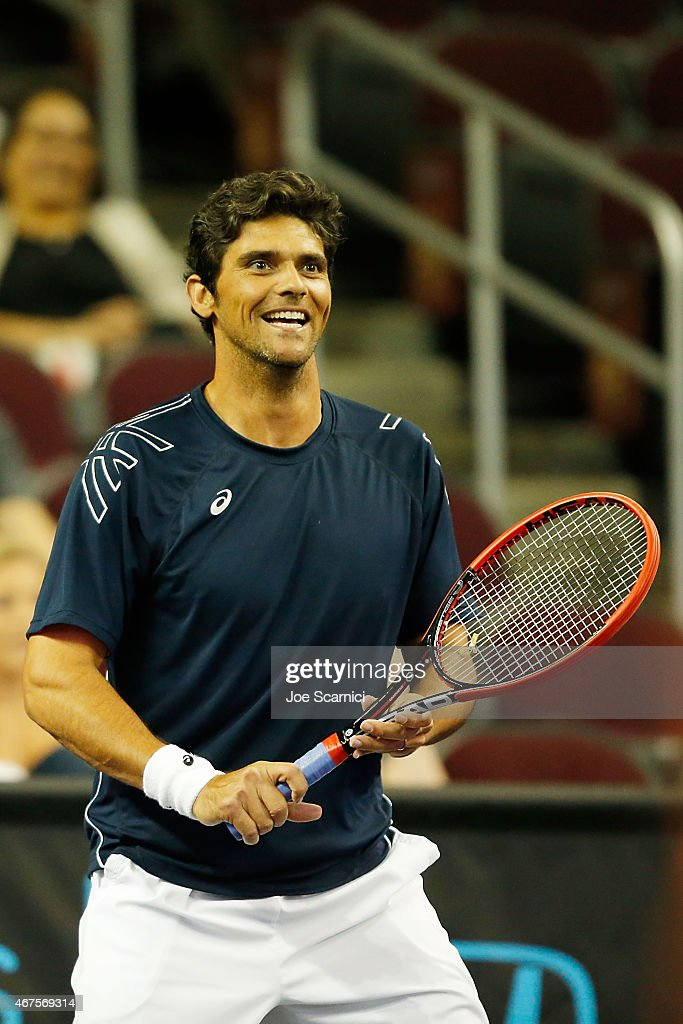 Mark Philippoussis Reacts To A Point During The PowerShares Series SoCal  Honda Dealers Helpful Cup At