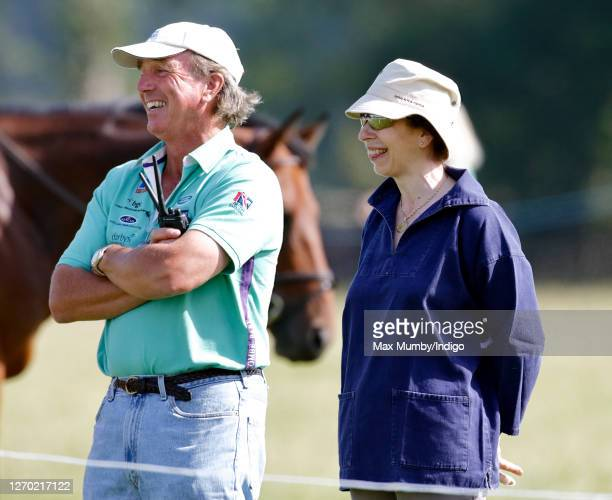 Mark Phillips and ex-wife Princess Anne, Princess Royal watch their daughter Zara Phillips compete in the dressage phase of the Festival of British...