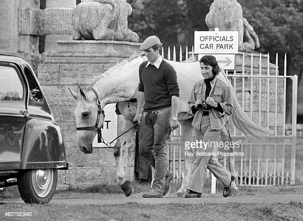 Mark Phillips husband of Princess Anne with photographer Ray Bellisario at the Bramham Horse Trials in Yorkshire on 31st August 1974 Ray Bellisario...
