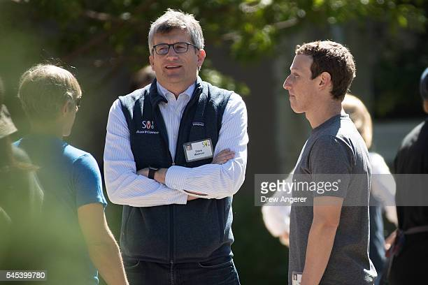 Mark Pincus cofounder of Zynga David Wehner chief financial officer of Facebook Inc and Mark Zuckerberg chief executive officer and cofounder of...