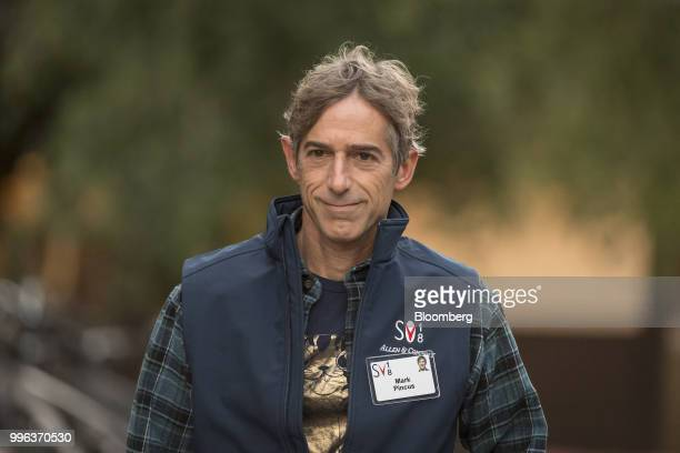 Mark Pincus founder and executive chairman of Zynga Inc arrives for a morning session of the Allen Co Media and Technology Conference in Sun Valley...