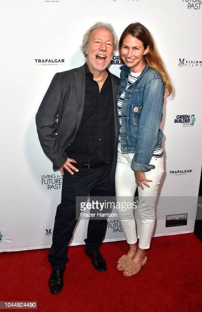 Mark Plotkin and Landon Clements attend Vision Films' 'Living In The Future's Past' at Ahrya Fine Arts Theater on October 2 2018 in Beverly Hills...
