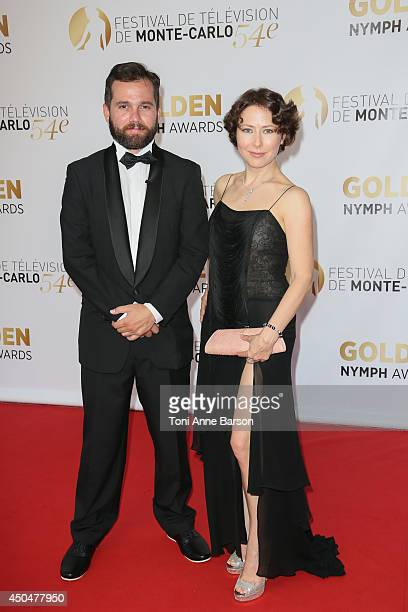 Mark Podrabinek Russian TV personality and Agata Gotova attend the Closing Ceremony and Golden Nymph Awards of the 54th Monte Carlo TV Festival on...