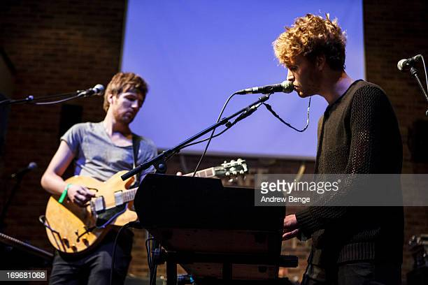 Mark Prendergast and Stephen Garrigan of Kodaline perform at the Hard Rock Cafe in Manchester during sound check for the Absolute Radio Presents the...