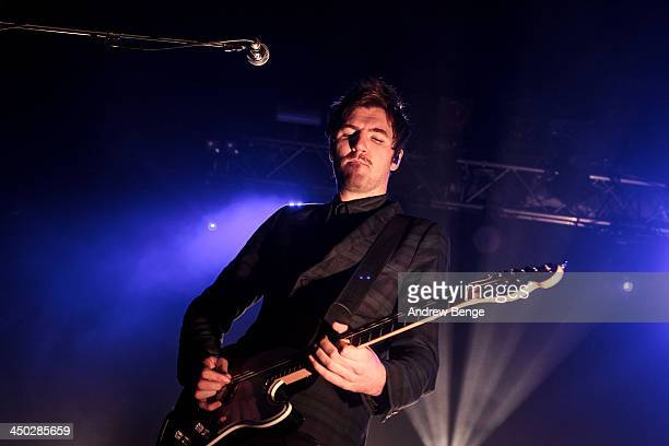 Mark Prendergast of Kodaline performs on stage at The Ritz, Manchester on November 17, 2013 in Manchester, United Kingdom.