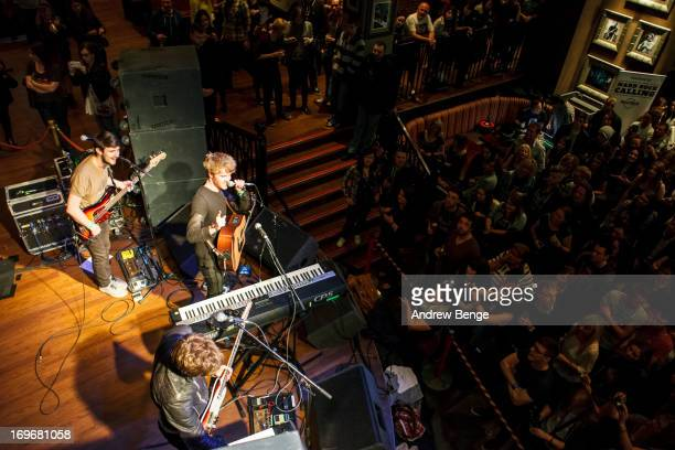 Mark Prendergast, Stephen Garrigan and Jason Boland of Kodaline perform for the Absolute Radio Presents the road to Hard Rock Calling session at Hard...