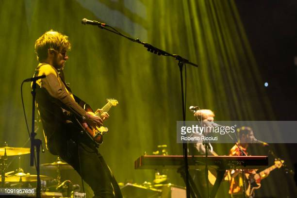 Mark Prendergast Steve Garrigan and Jason Boland of Kodaline perform on stage at The SSE Hydro on January 31 2019 in Glasgow Scotland
