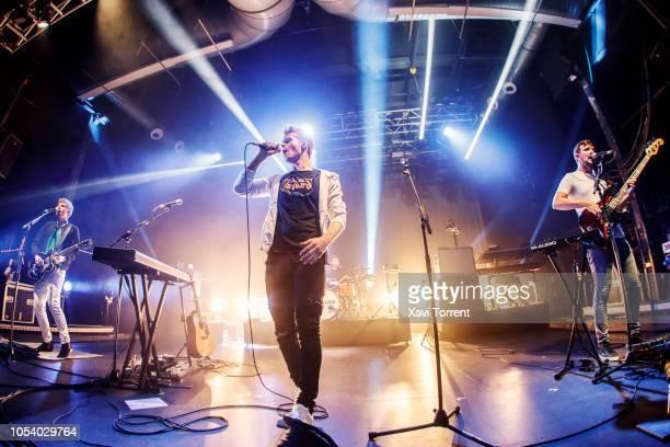 Mark Prendergast, Steve Garrigan, Vinny May and Jason Boland of Kodaline perform in concert at Razzmatazz on October 26, 2018 in Barcelona, Spain.