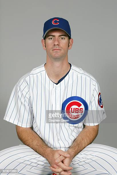 Mark Prior of the Chicago Cubs poses for a portrait during photo day at HoHoKam Park on February 25 2005 in Mesa Arizona