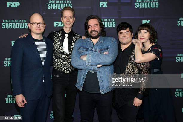 Mark Proksch Doug Jones Matt Berry Harvey Guillen and Kristen Schaal attend the FYC event of FX's What We Do In The Shadows at Avalon Hollywood on...