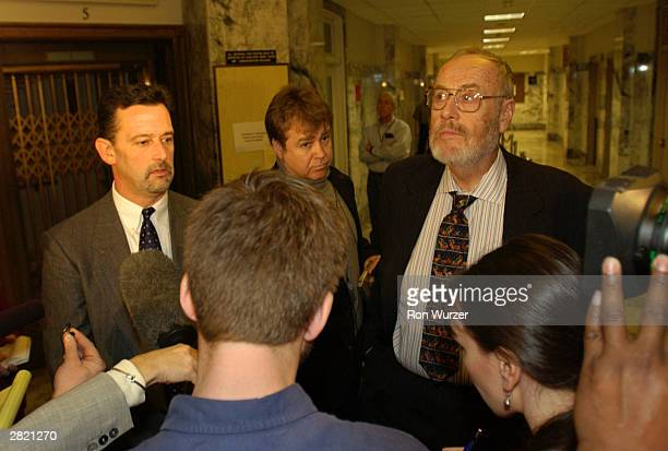 Mark Prothero and Anthony Savage lawyers for convicted mass murderer Gary Ridgway known as the Green River Killer speak with the media December 18...