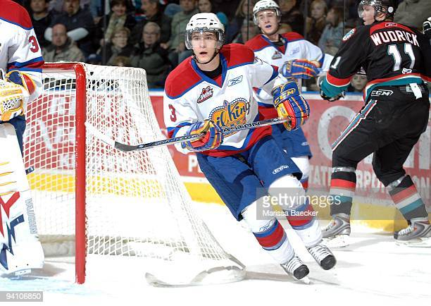 Mark Pysyk of the Edmonton Oil Kings skates against the Kelowna Rockets at Prospera Place on December 4 2009 in Kelowna Canada