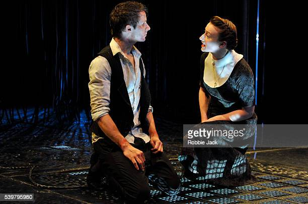 Mark Quartley as Claudio and Jodie McNee as Isabella in the Royal Shakespeare Company's production of William Shakespeare's Measure for Measure at...