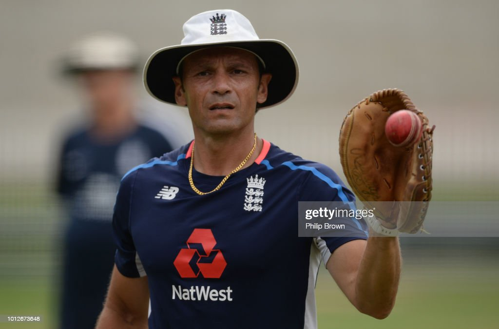 Mark Ramprakash of England looks on during a training session before the 2nd Specsavers Test Match between England and India at Lord's Cricket Ground on August 7, 2018 in London England.