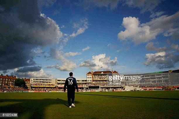 Mark Ramprakash of Surrey fields during the Twenty20 Cup match between Surrey Lions and Hampshire Hawks at The Brit Oval on July 3, 2004 at London.