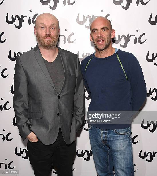 Mark Ravenhill and Sean Holmes attend the press night performance of 'Shopping And Fucking' at The Lyric Hammersmith on October 12 2016 in London...