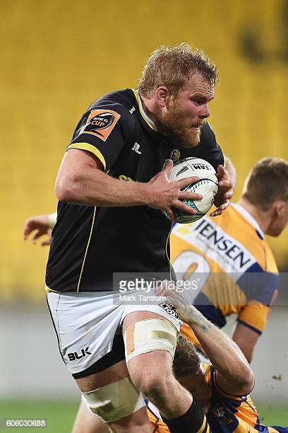 Mark Reddish of Wellington Lions during the Mitre 10 Cup round five match between Wellington and Bay of Plenty at Westpac Stadium on September 16...