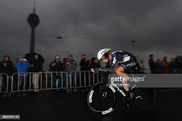 Mark Renshaw of Australia and Dimension Data competes during stage one of Le Tour de France 2017 a 14km individual time trial on July 1 2017 in...