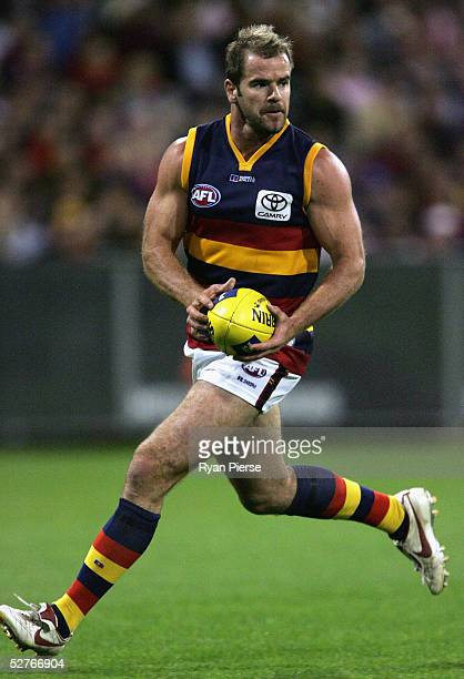 Mark Ricciuto for the Crows in action during the round seven AFL match between the Melbourne Demons and the Adelaide Crows at the M.C.G. On May 6,...
