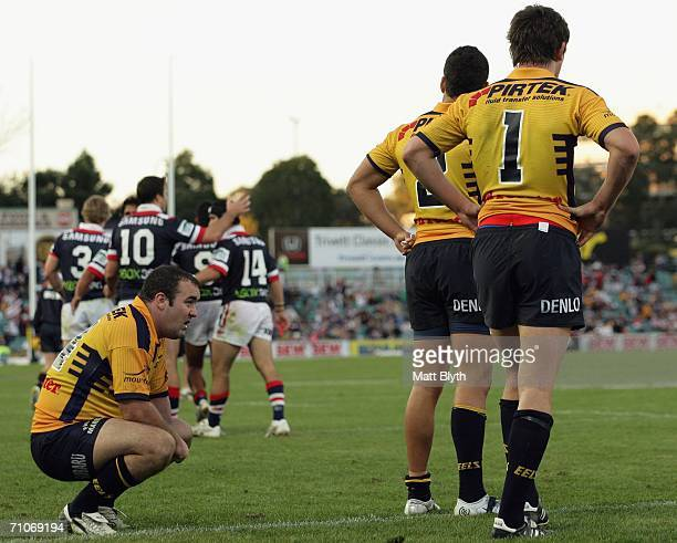Mark Riddell of the Eels looks dejected after another Roosters try during the round 12 NRL match between the Parramatta Eels and the Sydney Roosters...