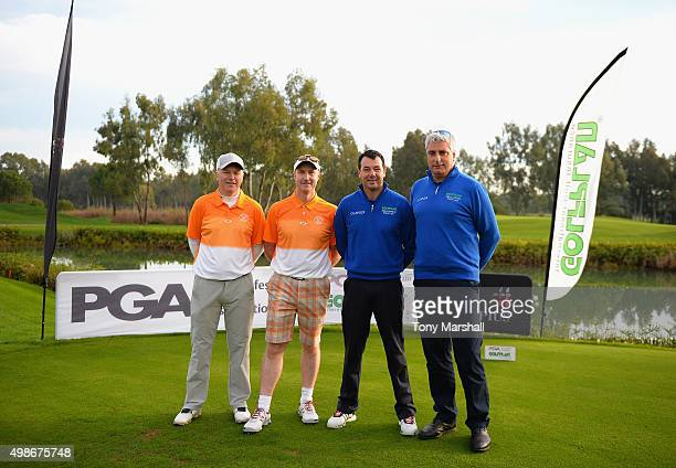 Mark Ridley of South Moor Golf Club Micheal Bowman Captain of South Moor Golf Club Richard O'Hanlon of St Kew Golf Club and Raymond Chandler Captain...