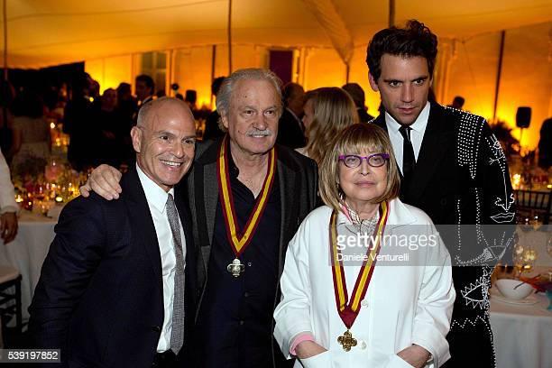 Mark Robbins Giorgio Moroder Patrizia Cavalli and Mika attend McKim Medal Gala In Rome at Villa Aurelia on June 9 2016 in Rome Italy