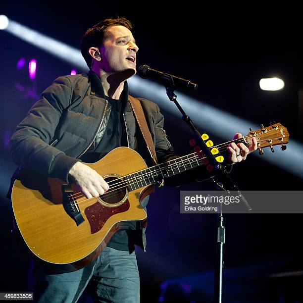 Mark Roberge of OAR performs during the 2014 Allstate Fan Fest at Jackson Square on December 31 2013 in New Orleans Louisiana