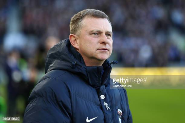 Mark Robins Manager of Coventry City looks on ahead of the The Emirates FA Cup Fifth Round between Brighton and Hove Albion v Coventry City at Amex...