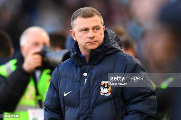 Mark Robins Manager of Coventry City looks on prior to the The Emirates FA Cup Fifth Round between Brighton and Hove Albion v Coventry City at Amex...