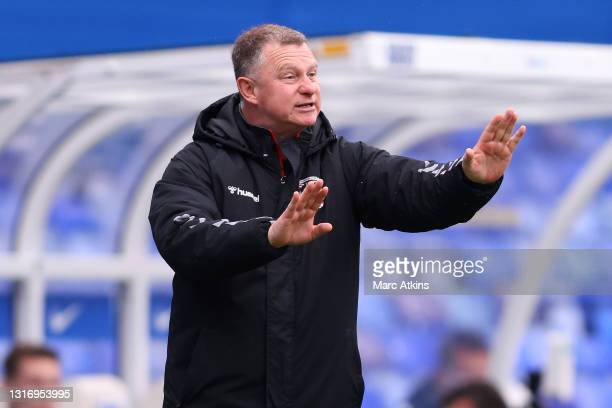Mark Robins, Manager of Coventry City reacts during the Sky Bet Championship match between Coventry City and Millwall at St Andrew's Trillion Trophy...