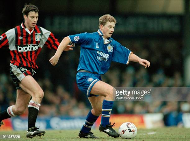 Mark Robins of Leicester City in action during an FA Cup 3rd Round tie at Filbert Street on January 6 1996 in Leicester England