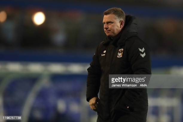 Mark Robins the manager / head coach of Coventry City during the FA Cup Fourth Round match between Coventry City and Birmingham City at St Andrew's...