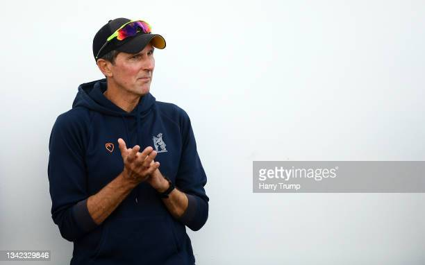 Mark Robinson, First Team Coach of Warwickshire looks on following Day Four of the LV= Insurance County Championship match between Warwickshire and...