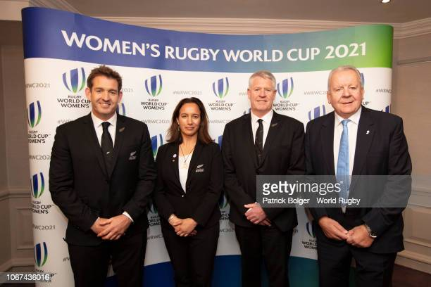 Mark Robinson former All Black and New Zealand Rugby board member Dr Farah Palmer former Black Fern and New Zealand Rugby Board member Steve Tew CEO...