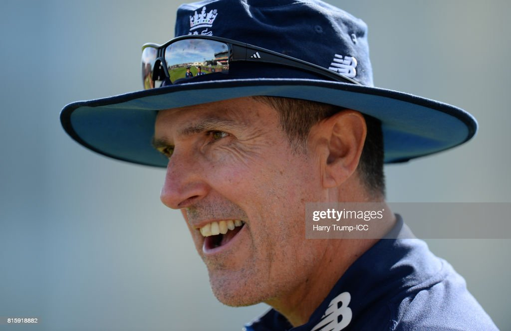 Mark Robinson, Head Coach of England during the England v South Africa - ICC Women's World Cup: Previews at the Brightside Ground on July 17, 2017 in Bristol, England.