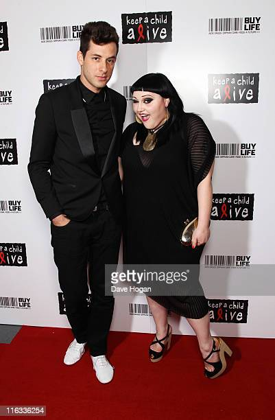Mark Ronson and Beth Ditto attend the Keep a Child Alive Black Ball 2011 at Camden Roundhouse on June 15, 2011 in London, England.