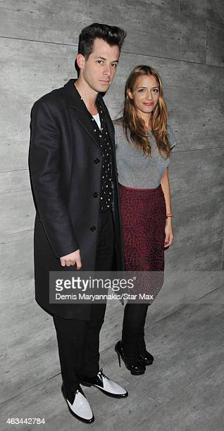 Mark Ronson and Charlotte Ronson are seen on February 13 2015 in New York City